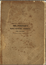 Mr. Porter's Half-Century Sermon. Rye, N.H. - 1835