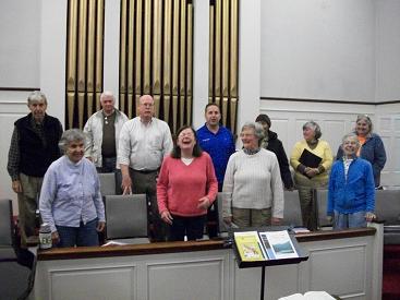 Choir laughing