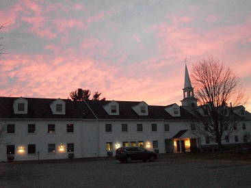 Church from Parking Lot at sunset